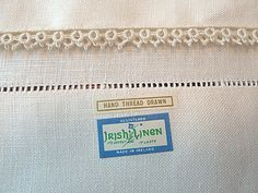 Em's Heart Antique Linens -Unused Vintage Irish Linen Pillowcases