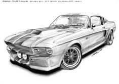 FORD MUSTANG SHELBY G.T. 500 ELEANOR 1967 by krzysiek-jac