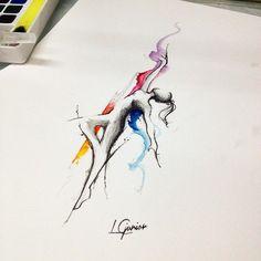 Resultado de imagem para tattoo clave de sol e sapatilha de ballet