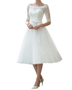 missgotti 2017 Wedding Dress Short Belt With Sleeves Wedding Gowns HWD057WT White SIZE 8 >>> Check out this great product.