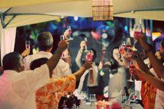 Beach Wedding Ceremony #weddingplannerphuket #weddinginphuket #toasting