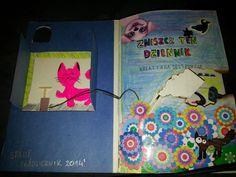 Wreck this journal.  Naughty kitten