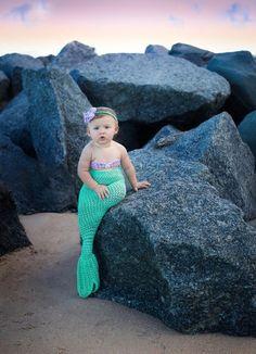 Newborn Mermaid Tail/Mermaid Outfit/Newborn Photo Prop/Toddler Mermaid Outfit/Crochet Mermaid Tail/M Little Girl Photos, Cute Baby Girl Pictures, Baby Mermaid, Mermaid Birthday, Newborn Photo Props, Newborn Photos, Cute Babies Photography, Monthly Baby Photos, Crochet Mermaid Tail