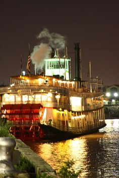 Riverboat Natchez on the Mississippi in New Orleans Love it when we were there for a dinner boat cruise for National bowling in Baton rouge,  want to go back.