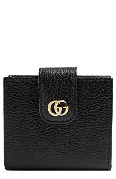 c51c6ca75bb GUCCI Designer GG Marmont Leather Wallet
