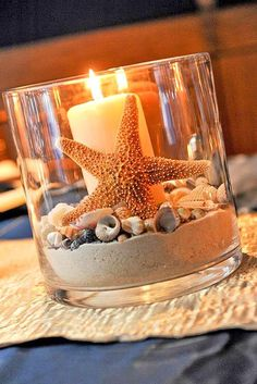 Beach Wedding Table Centerpiece - Various Shells, Starfish & Sand ** Versan . - Beach Wedding Table Centerpiece – Various Shells, Starfish & Sand ** Shipping … - Beach Wedding Tables, Beach Wedding Decorations, Beach Wedding Favors, Wedding Table Centerpieces, Centerpiece Ideas, Disney Centerpieces, Beach Weddings, Wedding Ceremony, Decor Wedding