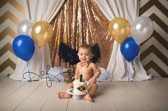 Royal Prince White, Gold & Navy Smash Cake Themed session | First Birthday Photographer | CT Smash Cake Photographer Elizabeth Frederick Photography www.elizabethfrederickphotography.com