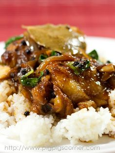 filipino chicken adobo. (was good. made it for dinner)
