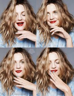 Drew Barrymore by Jan Welters for Marie Claire US February 2014