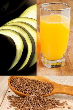Suco é feito com berinjela fatiada e laranja. Se desejar, acrescente semente de linhaça (Thinkstock) Sumo para emagrecer