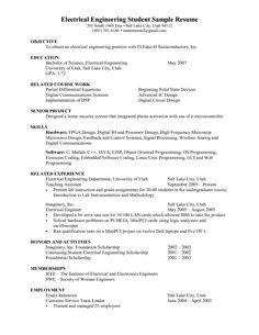 resume examples for electronics engineering students httpwwwresumecareerinfo - Sample Engineering Internship Resume