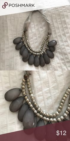 Anthropologie Necklace!! Beautiful 👀 Necklace from Anthropologie a few years ago. Bought to wear at a wedding.  Only worn a few times. Ribbons look slightly worn but can be cleaned. Size adjustable to liking. Anthropologie Jewelry Necklaces