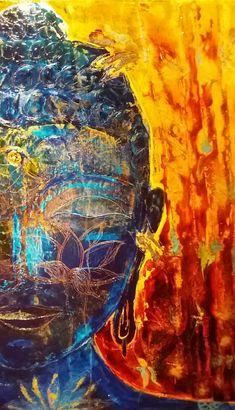 Bouddha bleu. Acrylique. Bob