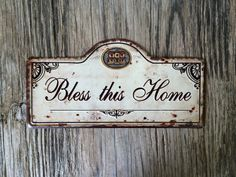 Vintage style tin metal sign // gift for her by RinTinSignCO