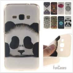 Fashion cute Tiger Lion Pattern soft silicone TPU Mobile phone case for Samsung Galaxy J1 2016 J120 J120F Flower back cover skin
