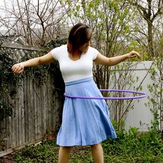 vintage powder blue pleated skirt - $24 jloriginals @Etsy it's a hula hooping cotton candy colored good time