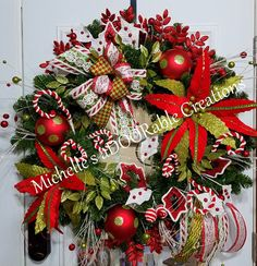 Christmas Wreath Traditional Candy by MaDoorableCreations on Etsy