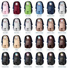 """ByBoom® - Copertina invernale avvolgente per il bebè """"l'originale con l'orsetto"""", universale per ovetto, seggiolino auto, p.es. per Maxi-Cosi, Römer, per passeggino, buggy o lettino, Colore:Grigio/Blu"""