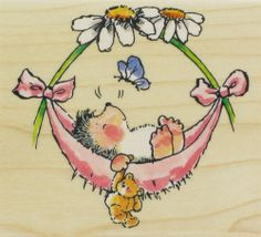 See Baby Hammock (Hedgehog) by Penny Black on Addicted to Rubber Stamps!
