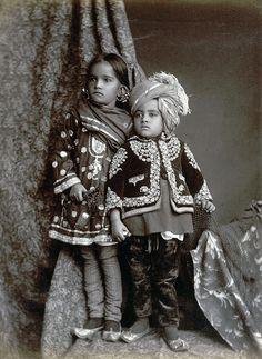 Kashmiri children in churidar 1890 - Churidar - Wikipedia