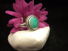 Turquoise Ring  Sterling Silver Design Ring by ArtemisJewellery