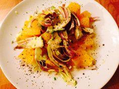 Orange and artichokes