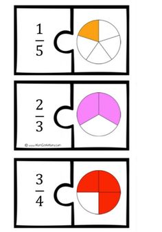 Teaching 830069775049205239 - Fraction Math Puzzles {Printable} – Teach Junkie Source by Fraction Games, Fraction Activities, Math Resources, Math Activities, Math Games, Fractions Équivalentes, Teaching Fractions, Teaching Math, Equivalent Fractions