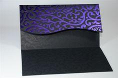 Purple & Black Invite