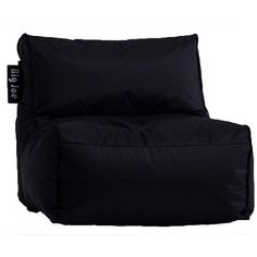 Big Joe Zip Armless Chair, Black