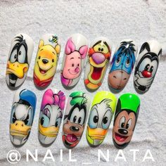 Красивый маникюр , Ногти , Мк in 2020 (With images) Cartoon Nail Designs, Animal Nail Designs, Disney Nail Designs, Animal Nail Art, Nail Art Designs Videos, Cute Nail Art Designs, Nail Designs For Kids, Disney Acrylic Nails, Summer Acrylic Nails