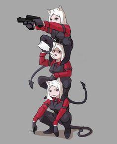 Manga Art, Manga Anime, Anime Art, Bakugou And Uraraka, Anime Devil, Demon Art, Cerberus, Anime Comics, Anime Style