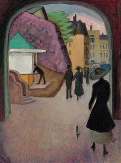 Gabrielle Munter (1877-1962) - Mai-Abend in Stockholm, 1916