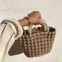 """New Cheap Bags. The location where building and construction meets style, beaded crochet is the act of using beads to decorate crocheted products. """"Crochet"""" is derived fro 70s Fashion, Look Fashion, Fashion Bags, Couture Fashion, Korean Fashion, Balenciaga Handbags, Burberry Handbags, My Bags, Purses And Bags"""