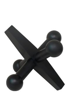 """Resin Jax - Black by Modern Whimsical Style Decor  Bring a modern visual to the forefront of your home with something classic and clean-lined.  - Sculptural jax  - Color: Black  - 18"""" W x 18"""" L x 17"""" D  - Imported  Materials  Resin  $95"""