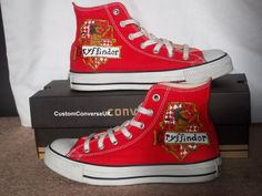 Harry Potter Gryffindor House Converse All by CustomConverseUK from CustomConverseUK on Etsy. Saved to shoes. Harry Potter Converse, Mode Harry Potter, Harry Potter Shoes, Harry Potter Cosplay, Harry Potter Outfits, Harry Potter Cast, Harry Potter Love, Converse Trainers, Converse Shoes