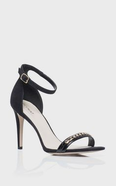 Black heels open toe