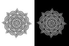 Simple Mandala, Affinity Designer, Mandala Design, Vector Free, Cards, Maps, Playing Cards