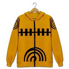 Naruto zip hoodies Naruto Uzumaki cosplay costume pour les adolescents