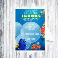 Finding Dory Invitation  DIGITAL by TheCuteKoala on Etsy