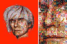 A Portrait of Andy Warhol, Made Up of the Art of Andy Warhol by Charis Tsevis