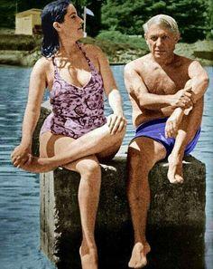Pablo Picasso con Dora Maar 1945