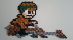 Star Wars - Luke on speeder bike (Mega Man style) perler beads by Björn Börjesson