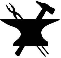 I wouldn't make it all black. I want the tools to stand apart from the anvil.