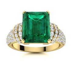 An emerald cut gemstone showcased at its centre surrounded by a beautiful band of diamonds in symmetry, emera is a perfect blend of a modern and Victorian design. Natural Emerald Rings, May Birthday, Victorian Design, Love Ring, Emerald Cut, Shades Of Green, Vintage Rings, Ring Designs, Tea Party