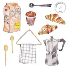 Good objects - Coffee essentials #coffee #goodobjects #illustration