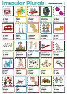 Irregular Plurals worksheet - Free ESL printable worksheets made by teachers Plural Nouns Worksheet, Plurals Worksheets, Printable Worksheets, Teaching English Grammar, English Vocabulary, Speech Language Therapy, Speech And Language, Irregular Plural Nouns, English Units