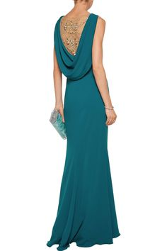 Shop on-sale Embellished tulle-paneled crepe gown. Browse other discount designer Gowns & more luxury fashion pieces at THE OUTNET Luxury Fashion, Womens Fashion, Designer Gowns, Online Clothing Stores, Marchesa, Fashion Outlet, Evening Gowns, Tulle, Formal Dresses