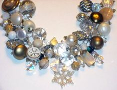 Using Vintage Jewelry To Make A Charm Bracelet