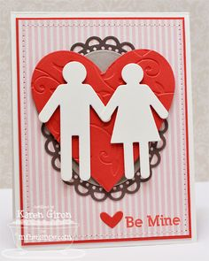 A Project by karengiron from our Stamping Cardmaking Galleries originally submitted at AM Love Valentines, Valentine Day Cards, Valentine Ideas, Diy Cards, Your Cards, Wedding Anniversary Cards, All Paper, Heart Cards, Creative Cards