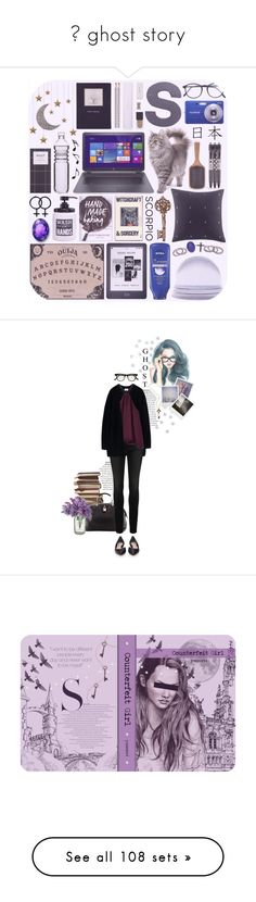 """""""💜 ghost story"""" by yuuurei ❤ liked on Polyvore featuring art, allaboutme, Mulberry, Acne Studios, Paige Denim, WtR London, Polaroid, Cutler and Gross, black and skinnyjeans"""